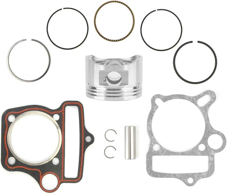 Gorgeri 125cc 54mm Piezas del motor Juego de pistones Anillos Juntas Juego de pistones de cilindro para Loncin LiFan ATV Go Kart Bike