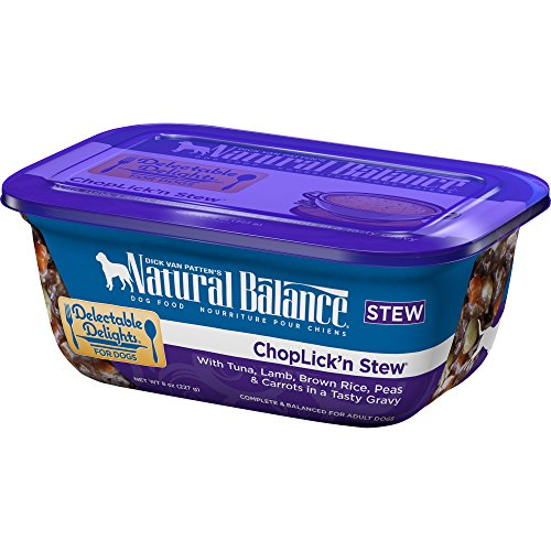 Natural Balance Delectable Delights Wet Dog Food Choplick N Stew