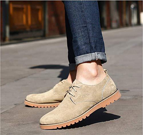 Los Zapatos de Hombres 5 los Hombres los de para 5 ata de Color los para Zapatos los EEUU Arriba tamaño Cuero Retros Azul 6 útiles Ocasionales cómodos HhGold 7 Marrón Unido los Reino OZd8qwO