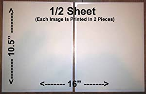 1/2 Sheet Rectangle Cake Toppers Frosting Sheets Edible - Custom