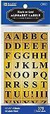 Bazic Gold Foil Alphabet Label - 378/Pack 144 pcs sku# 311108MA