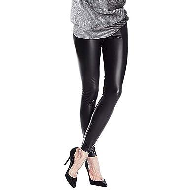 ee974ce53e Pantalones Mujer Chandal Tallas Grandes EláSticos ImitacióN Cuero con Falda  Pantalones Pitillo Negro Cintura Alta Medias