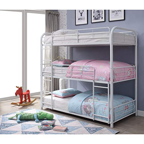 ACME Furniture 38110 Cairo Triple Twin Bunk Bed White