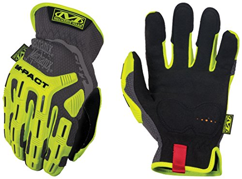 Mechanix Wear - Hi-Viz M-Pact Open Cuff Cut Resistant E5 Gloves (Medium, Fluorescent Yellow)