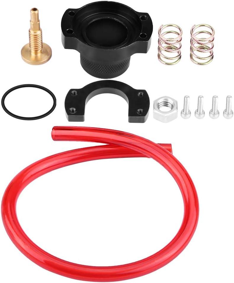 Aramox Fuel Regulator Kit Racing Adjustable Fuel Regulator Riser Gauge Aluminum Fuel Regulator Fit for Honda Civic Acura Integra Prelude