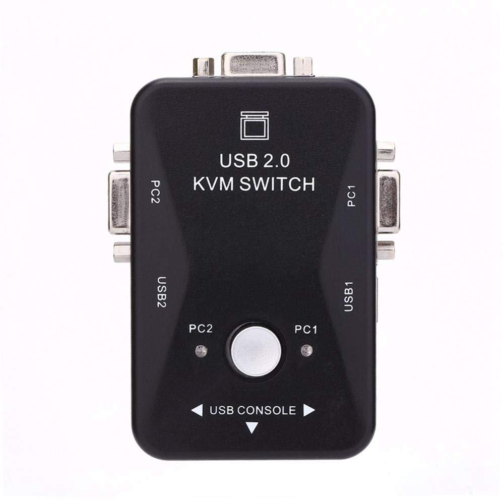 Clavier Moniteur S/électeur De Commutateur De Partage USB 2 en 1 Sortie pour PC Bo/îtier HDMI 2 Ports Commande De Souris Imprimante Hamkaw Commutateur KVM