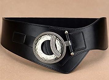 YANGFEIFEI-PD Cinturón muy elegante El cinturón pélvico Cover Girl amplia embellecedor Down Jacket, nepotismo, cinturón de cuero negro: Amazon.es: Deportes ...