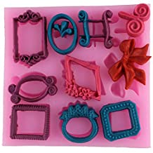 Different Small Vintage Mirror Frame Shape Silicone Fondant Mold DIY Cake Decorating Chocolate Mould Cake Sugar Craft Mold Cake Baking Tools Ct438