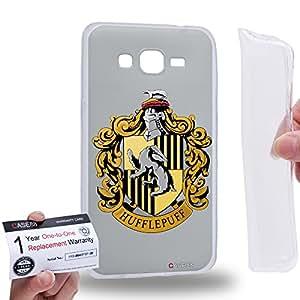 Case88 [Samsung Galaxy Grand Prime] Gel TPU Carcasa/Funda & Tarjeta de garantía - Harry Potter & Hogwarts Collections Hogwarts Hufflepuff Sigil 0560