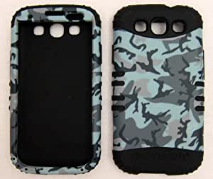 Silicone and Hard Plastic Case for HTC ONE X Grass Camo with Black Skin