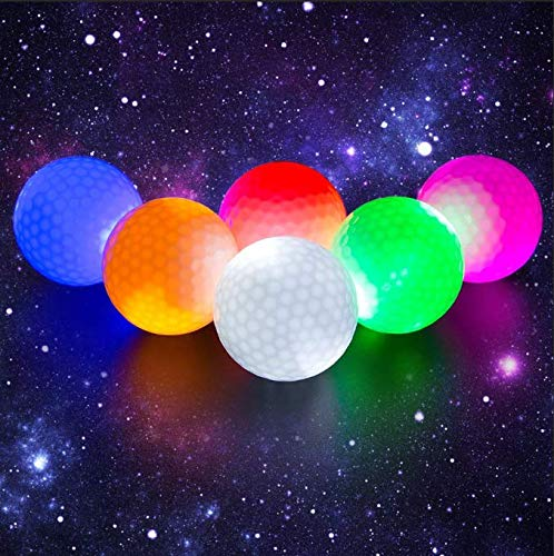 Crestgolf Flashing Glowing Golf Ball,Night Glow Flash Light up LED Golf Ball (6 Pack),six Color for Your Choice (Mixed Color)]()