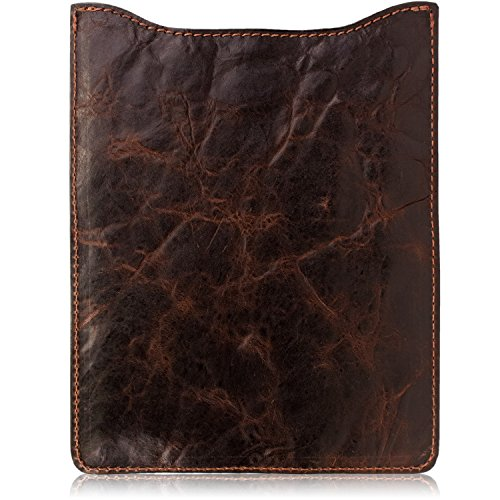 - Western Cowboy Chocolate Brown Distressed Leather iPad, Galaxy, Kindle Fire Tablet Sleeve (Large)