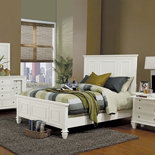 Coaster Home Furnishings Sandy Beach California King High Headboard Bed White