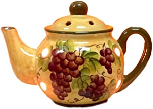 """Sonoma Grape Pattern Collection, Electric Tart Burner 8 1/2""""H, 82564 By ACK"""