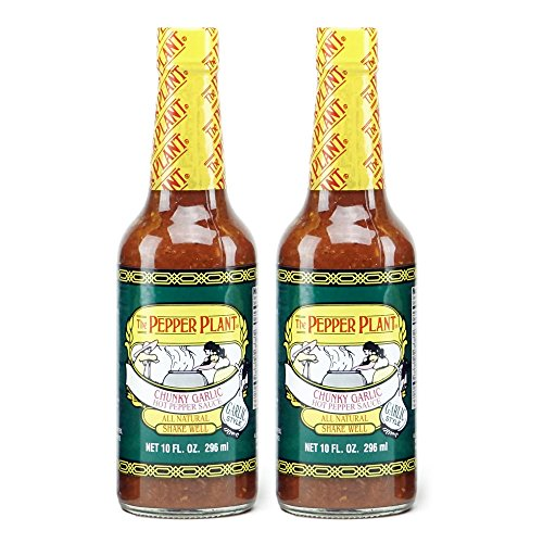 (The Pepper Plant Chunky Garlic Hot Pepper Sauce 2-pack)