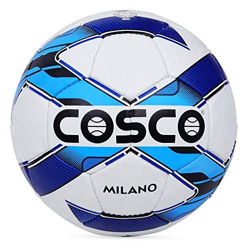 Cosco MILANO Synthetic fiber Football, Size 5,  Blue, White