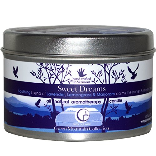 Candle Dreams - Way Out Wax Aromatherapy Scented Candle, Sweet Dreams Fragrance, (6.7 oz Large Travel Tin); Hand Poured Soy Candles Scented w/ Pure Essential Oils, All-Natural