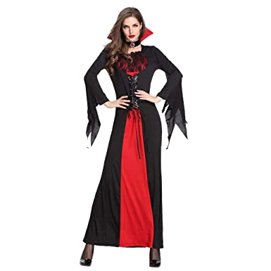 Disfraz Vampira Halloween Reina Cosplay Novia Cadáver Mujer Novia ...