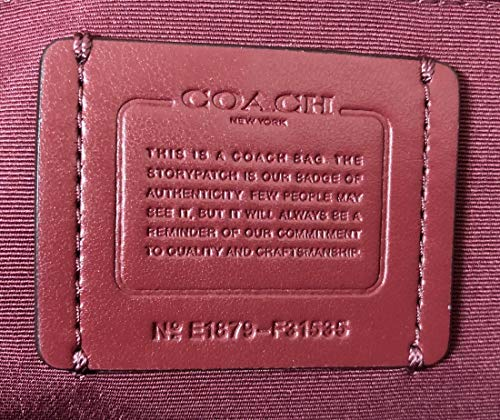 Coach F31535 Beachwood Wine Beige Large Leather Women's Tote Bag by Coach (Image #6)