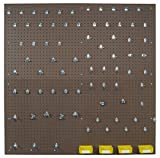 Triton Products TPB2-83 Two Tempered Wood Pegboards 24 Inch W x 48 Inch H x 1/4 Inch D with 79 pc. DuraHook Assortment, 4 Hanging Bins & Wall Mounting Hardware (2 Box Set) by Triton 2