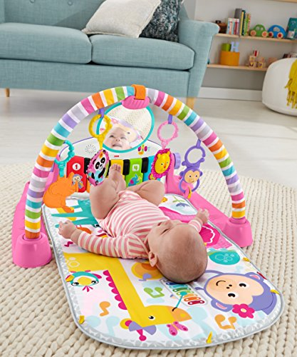 51tdVc%2B0E1L - Fisher-Price Deluxe Kick 'n Play Piano Gym, Pink