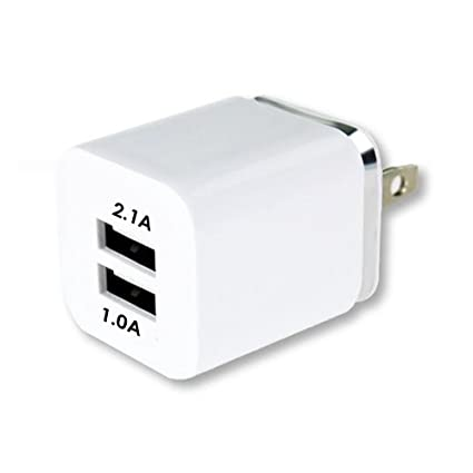 Amazon.com: Cargador de pared USB, 2.1 A/5 V USB Plug ...