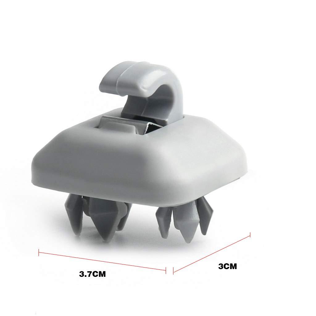 Qiuxiaoaa Tinta Unita Auto ABS Visiera Parasole Gancio Clip Staffa Sostituzione Grigio Adatto per pi/ù modellini di Automobili,