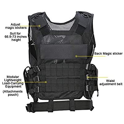 Hero egg Tactical Vest CS Field Outdoor Ultra-Light Breathable Combat Training Vest Adjustable for Adults