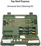 Top Shelf Express Universal Gun Cleaning Kit, Suitable for Pistols, Shotguns and Rifles, Portable, Lightweight, Brass Cleaning Rods and Bronze Brushes, Prolongs the Life of Any Gun
