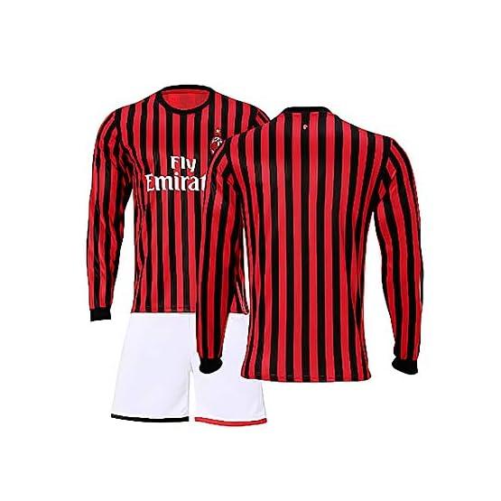 Maillot Manches Longues Foot 2019-2020 Personnalisé Football Maillot de Foot T-shirt Jersey À Manches Longues et Short pour Homme Enfant Personnalisé Survêtement de Football Kits Nom Numéro