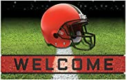 "FANMATS 19940 Team Color Crumb Rubber Cleveland Browns Door Mat, 1 Pack,18"""