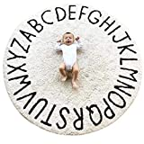 ABC Large Baby Rug for Nursery Kids Round