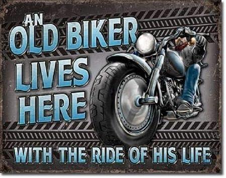 Ride Free Embossed TIN SIGN Patriotic Motorcycle Eagle Vintage Rustic
