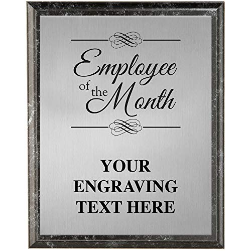 Crown Awards Corporate Employee Recognition Plaques - 6 x 8 Employee of The Month Etched Recognition Trophy Plaque Award Prime