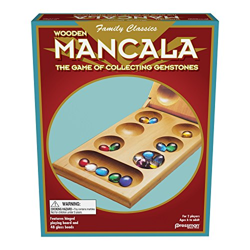 Mancala - Real  Wood Folding Set (Kids Marble Game)