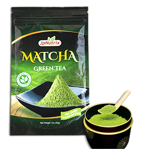 Orgánico Matcha té verde en polvo - 1 onza (30 porciones) - 100% pura Premium extracto en polvo de Uji - grado Ceremonial japonesa - vegana y cocina ambiente - uso para bebidas, hornear, Lattes y más!
