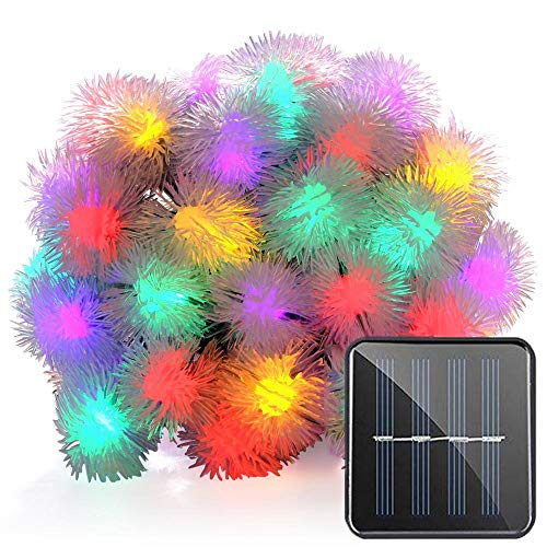 Solar Powered String Lights - Chuzzle Ball Outdoor String Lights 23FT 8Modes 50 LED Waterproof Christmas Lights Fairy Lights for Indoor/Outdoor Decorations Home Party Garden Lawn Patio (Multicolored)