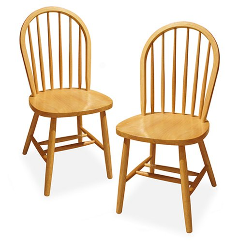 Winsome Wood Windsor Chair Natural Set Of 2 Go4carz Com