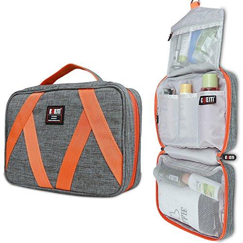 Hanging Toiletry Bag for Men Women Bathroom Essential Organizer Case Travel Makeup Bag Waterproof,Gray