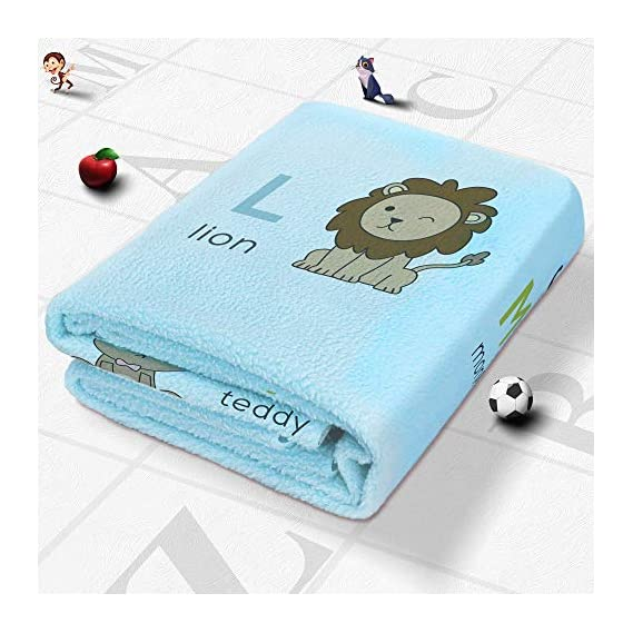 Quick Dry Printed Washable Dry Sheet/Bed Protector for Baby (Small (70 * 50 cm), Blue - A to Z)