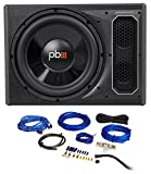 POWERBASS PS-AWB121 12'' 200w RMS Powered Subwoofer In Sub Box Enclosure+Amp Kit