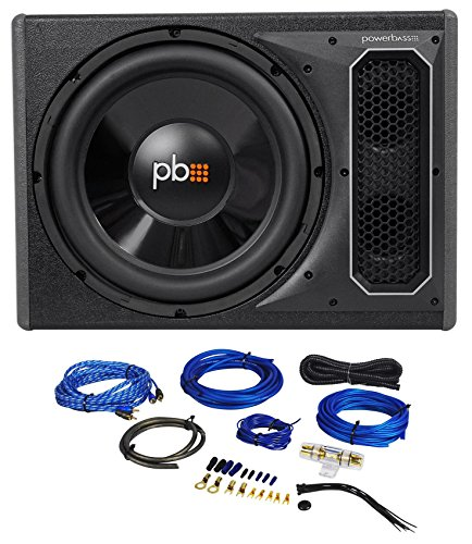 POWERBASS PS-AWB121 12'' 200w RMS Powered Subwoofer In Sub Box Enclosure+Amp Kit by PowerBass