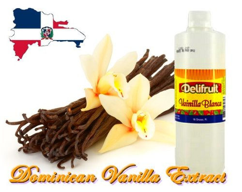 Delifruit Clear Vanilla Extract From Dominican Republic 8 Oz.