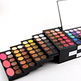 Binmer 144 Color Eyeshadow Powder Shimmer Cosmetics Makeup +3PC Blush