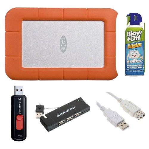 LaCie Rugged USB 3.0 Mini Disk 1 TB Portable Hard Drive 3015