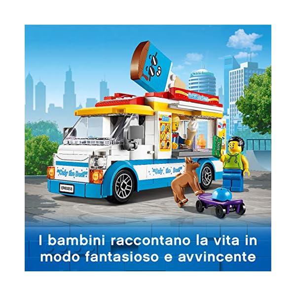 LEGO City Great Vehicles Furgone dei Gelati con 2 Minifigure e 1 Cane, Più 1 Serie di Accessori, Set di Costruzioni per… 3 spesavip