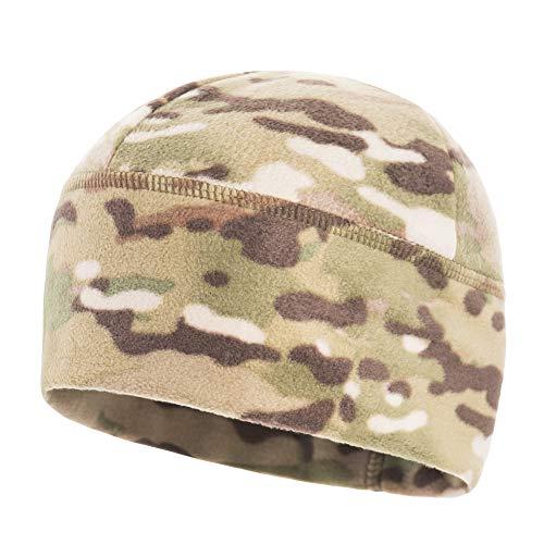 (M-Tac Winter Hat Windproof Fleece 295 Mesh Mens Tactical Watch Skull Cap Beanie (Large, Camo))