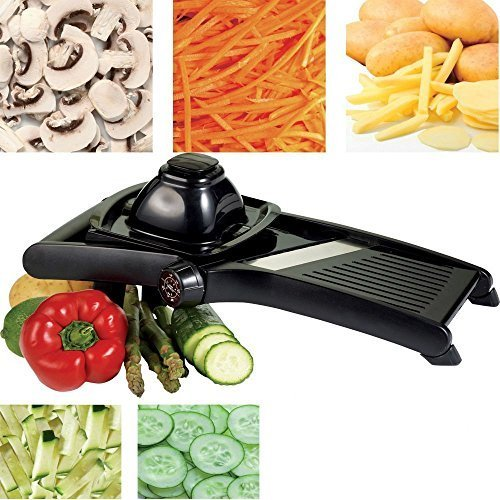 PROFESSIONAL PURE STAINLESS STEEL MANDOLIN SLICER **FREE UK POST** VEGETABLE SLICER CHEESE SLICER JULIENNE SLICING VEGETABLE FRUIT SALAD MANDOLIN SLICER Falconsuperstore