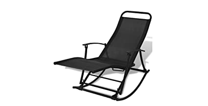 Ku0026A Company Rocking Garden Chair Patio Folding Outdoor Foldable Furniture