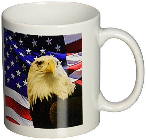 3dRose Bald Eagle American 11 Ounce